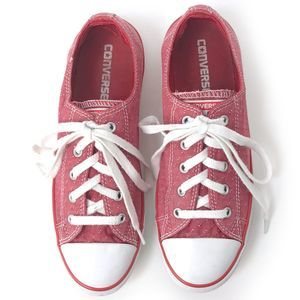 Converse All Star Faded Red Low Top Sneakers 8.5